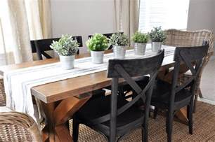 Old Dining Room Furniture x brace farmhouse table free plans cherished bliss
