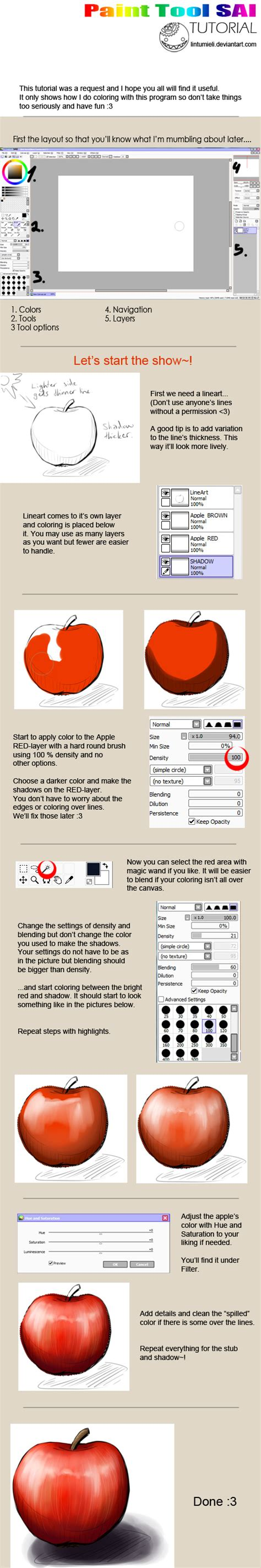 paint tool sai draw tutorial paint tool sai coloring tutorial by lintumieli on deviantart