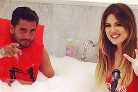 khloe takes a bath with disick as