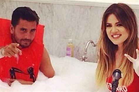 khloe kardashian bathtub close khloe kardashian takes a bath with scott disick as family rally round him for