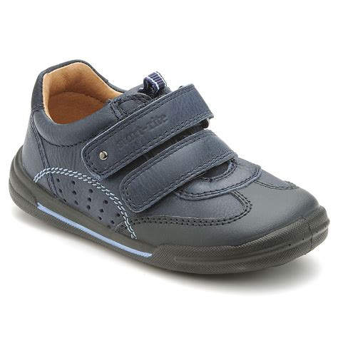 kids shoes fitted childrens footwear by start rite flexy soft air navy leather boys shoe
