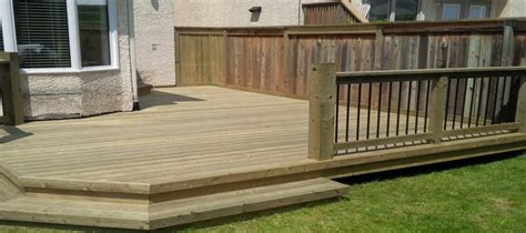 simple backyard deck the deck manthe deck