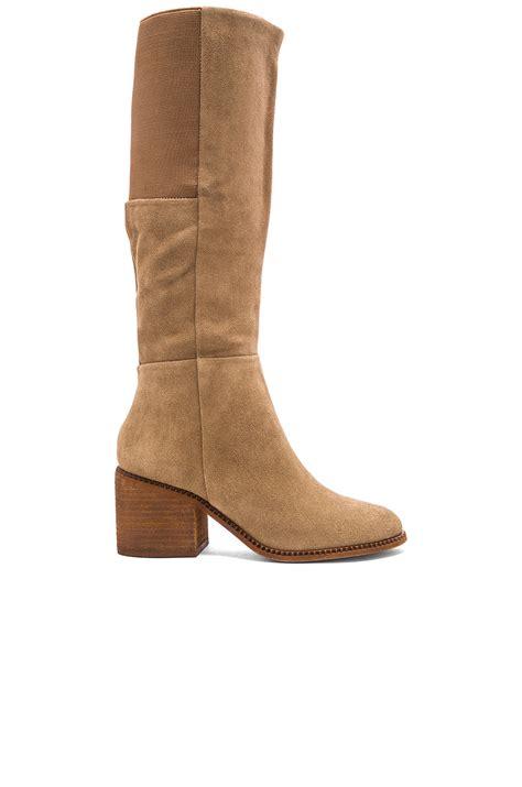 splendid boots splendid kassie suede knee high boots in brown lyst