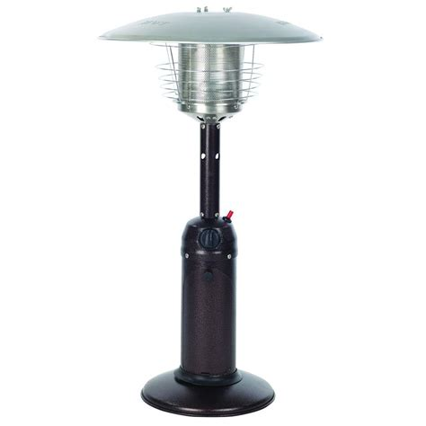 How To Light A Patio Heater Sense 10 000 Btu Hammered Bronze Tabletop Propane Gas Patio Heater 61322 The Home Depot