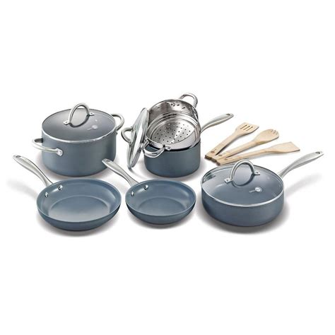 Teflon Ceramic greenpan lima 12 ceramic nonstick cookware set