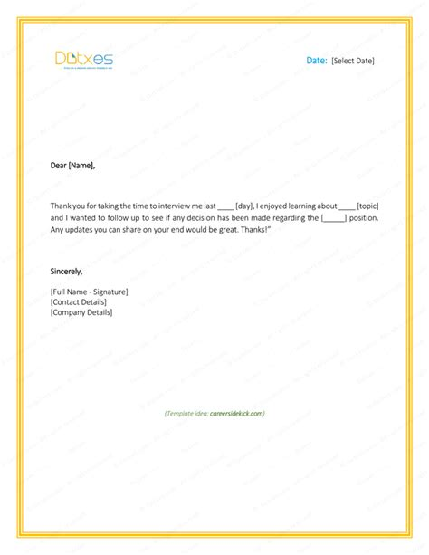 Business Thank You Letter Response sle follow up letter after no response