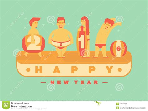 how is new year vacation happy 2016 new year vacation to the theme vector
