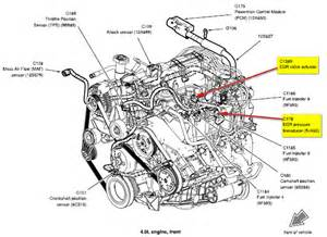 ford explorer egr valve location wiring diagram and