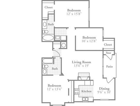 12 x 15 kitchen floor plan ambassador style apartment crowne at grandview