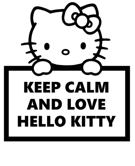 coloring pages of keep calm keep calm and love hello kitty and coloring books