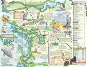 Map Of Crystal River Florida by The Souvenir Map Amp Guide Of Crystal River Fl