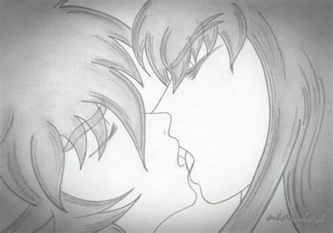 imagenes a lapiz de parejas besandose dibujos de lapiz de parejas