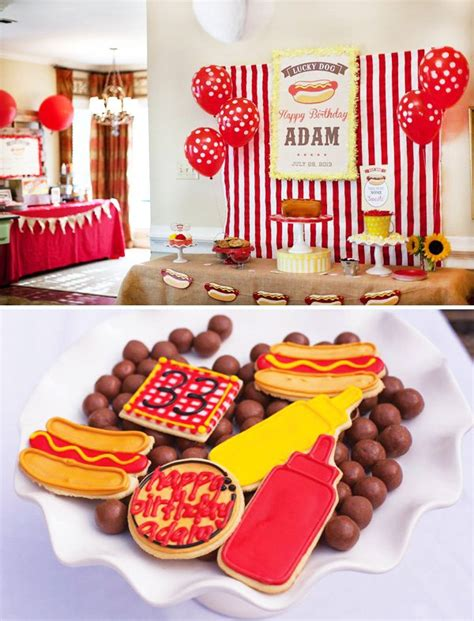hot party themes for adults retro hot dog birthday party red yellow hostess