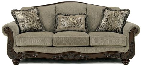 wood trim sofas signature design by ashley martinsburg meadow 5730038