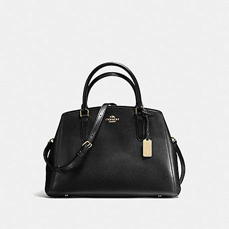 Coach Small Margot Carryall Black coach f57527 small margot carryall in crossgrain leather imitation gold black coach handbags