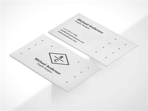 Business Card Template Psd Isometric business card psd mockup isometric front and back psd