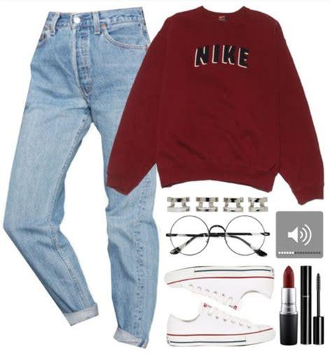 Set Sweater Nike Hoodie 90s nike sweatshirt oversized xl faded maroon boxy