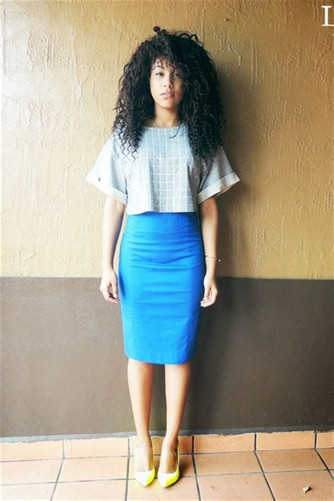blue pencil skirt express skirts silver crop top unknown