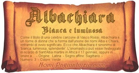 nome vasco significato nome albachiara