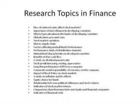 Research Essay Topics by Finance Research Paper Topics With Pictures Ehow