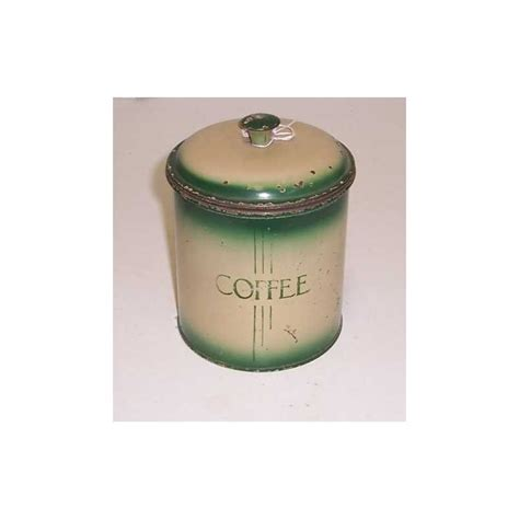 Tin Kitchen Canisters Kitchen Coffee Canister In Green In Tin Treats