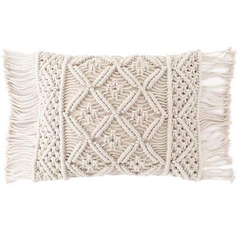 macrame pillow jala macrame decorative pillow pine cone hill