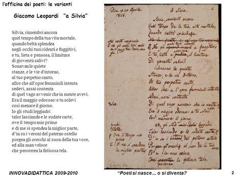 a giacomo leopardi testo unit 224 sulla poesia scuola superiore classe ii ppt