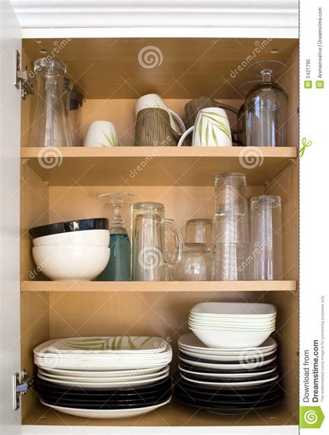 Cupboard Dishes Dishes In The Cupboard Royalty Free Stock Photo Image