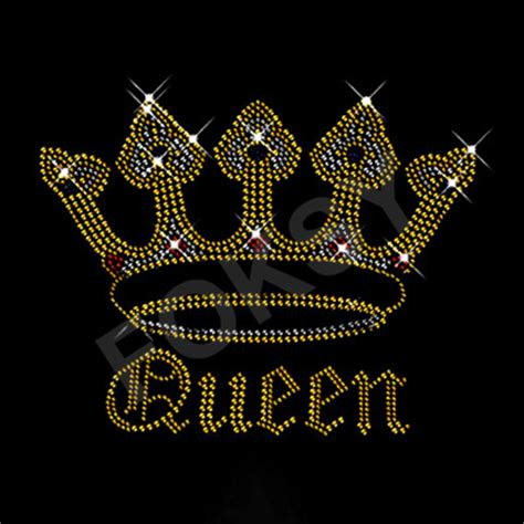 Kqueen Gold crown of gold motif wholesale iron on letters