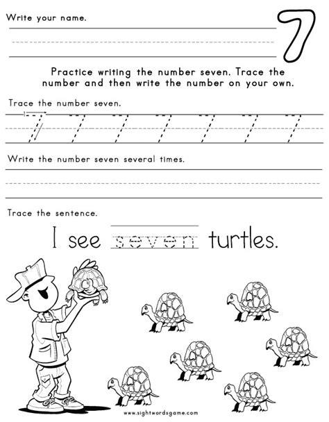 number 7 worksheets number worksheets