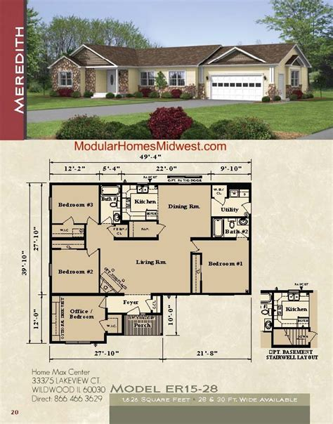 modular homes ranch floor plans rochester modular homes