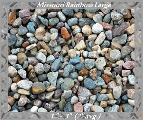 Landscape Rock Kansas City Mo Missouri Rainbow River Rock