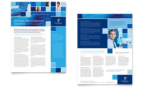 technology consulting it datasheet template word