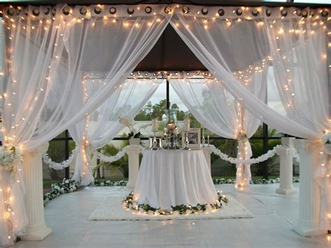 Wedding Decoration Curtains Patio Pizazz Outdoor Gazebo White Wedding Drapes Price Includes 2 Panels Ebay