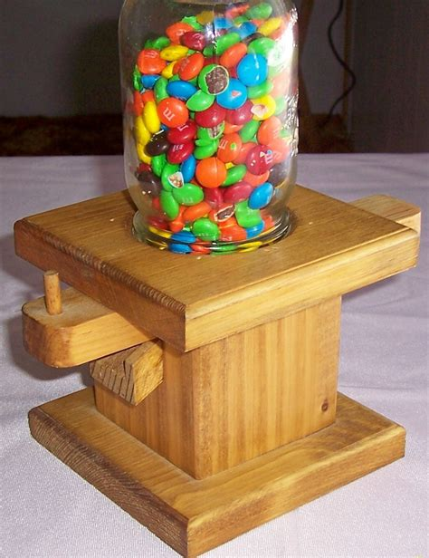 Handmade Confectionery - handmade wooden or peanut dispenser by noriescreations