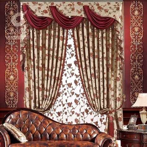 home decor drapes luxury fashion europe gauze curtains blackout home decor