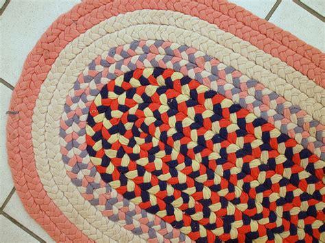 Handmade Braided Rugs For Sale - vintage american handmade braided rug 1920s for sale at