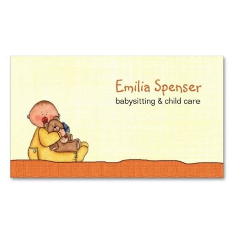 buisness cards aand templates for child care 1000 images about babysitting business cards on