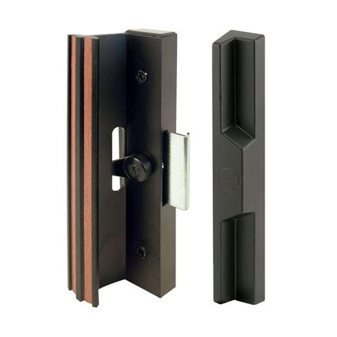 Keyed Patio Door Handle Prime Line Patio Door Handle Set With Wooden Handle C 1204 The Home Depot