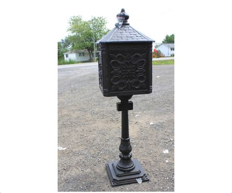 Iron Mailboxes Decorative Cast by Cast Iron Mailbox Large