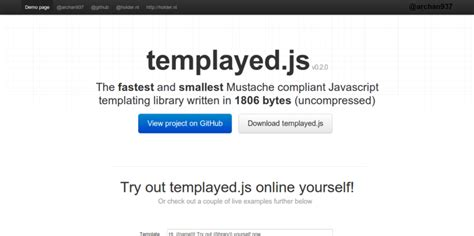 15 javascript template engines for front end development