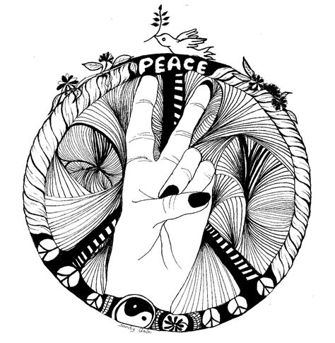 doodle peace sign peace symbol doodle creating gardening surviving