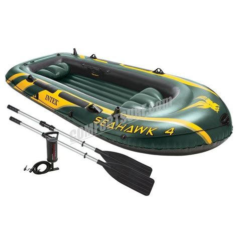 inflatable fishing boat malaysia seahawk 4 intex 68351 4 persons kayak rescue fishing