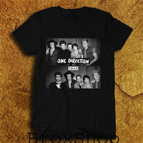 Hoodie One Direction Hitam 4 Zemba Clothing one direction shirt 1d four logo t shirt from broxshop on etsy