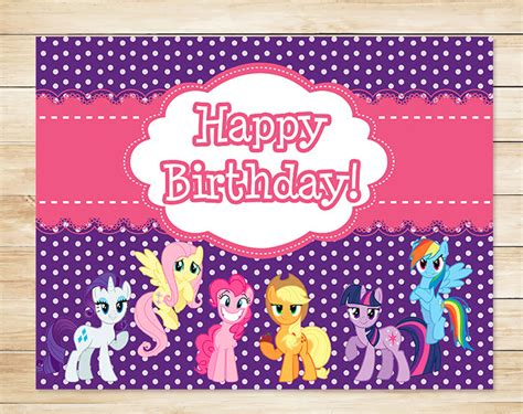 printable birthday card my little pony free my little pony printables
