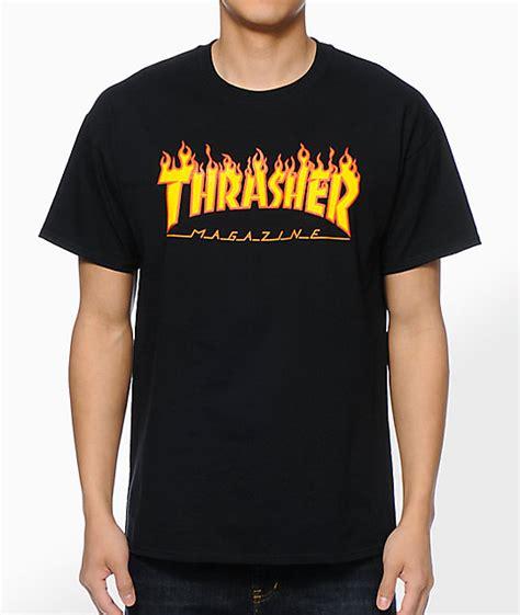 T Shirt Tharasher thrasher logo black t shirt