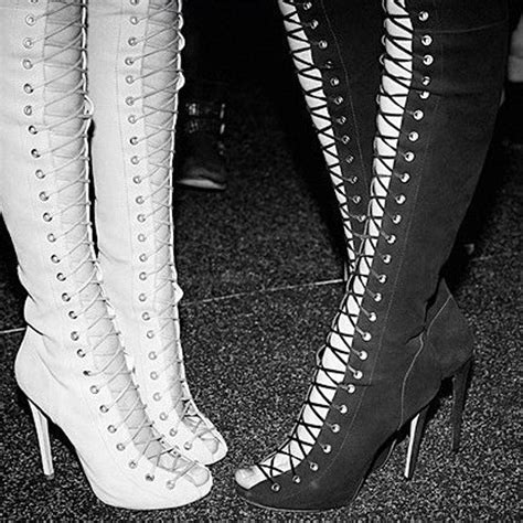 handmade gladiator thigh high lace up boots