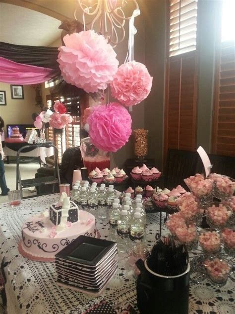 Black And White Damask Bathroom Ideas Pink Black N White Damask Baby Shower Shower Ideas