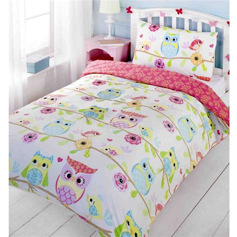 Bed Linens Ebay Owls Friends Size Duvet Cover Bed Sheets New