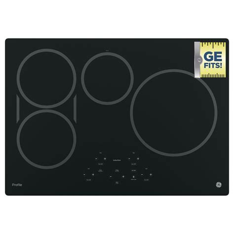 General Electric Induction Cooktop ge profile 30 in electric induction cooktop in black with